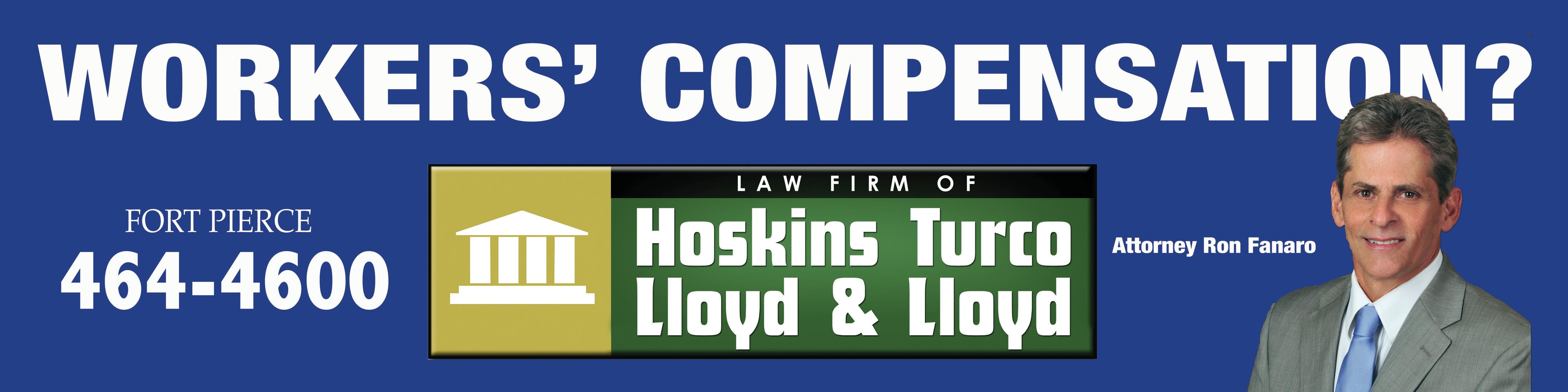 Aten Advertising recently developed this new billboard layout for the Workers' Compensation department at Hoskins Turco Lloyd & Lloyd.